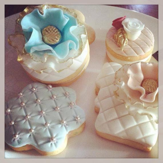 Sugar Cookies Wedding Favors  Elegant wedding party favors sugar cookies