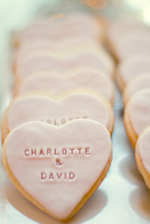 Sugar Cookies Wedding Favors  Wedding Dessert Ideas Stamped Cookie Wedding Favor • DIY