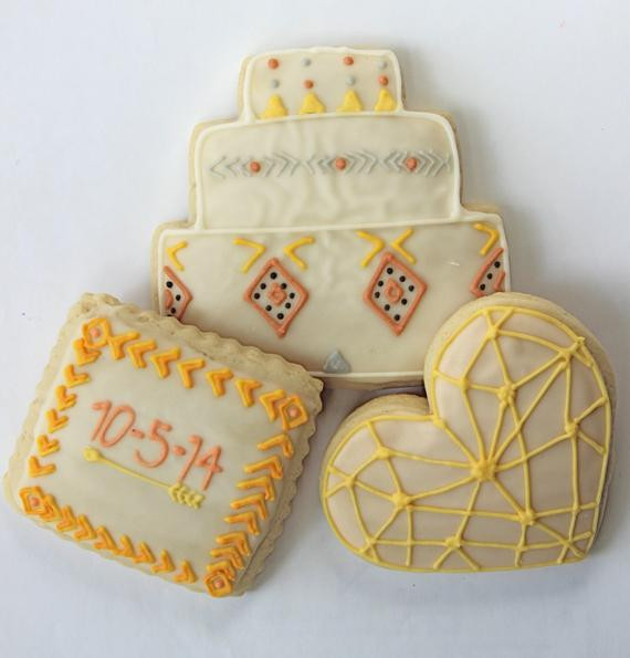 Sugar Cookies Wedding Favors  Edible Wedding Favors Cookie Favors Monogram Sugar Cookies