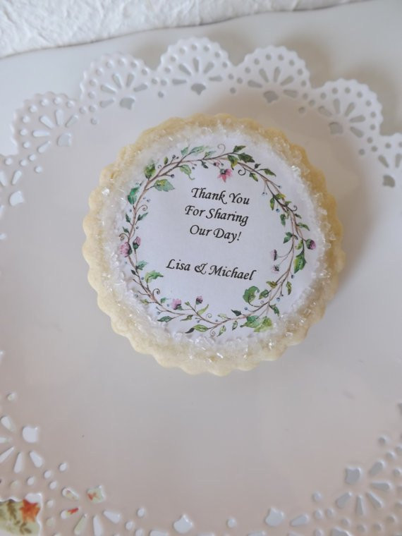Sugar Cookies Wedding Favors  Wedding Favors Personalized Sugar Cookie Favors For Your Guest