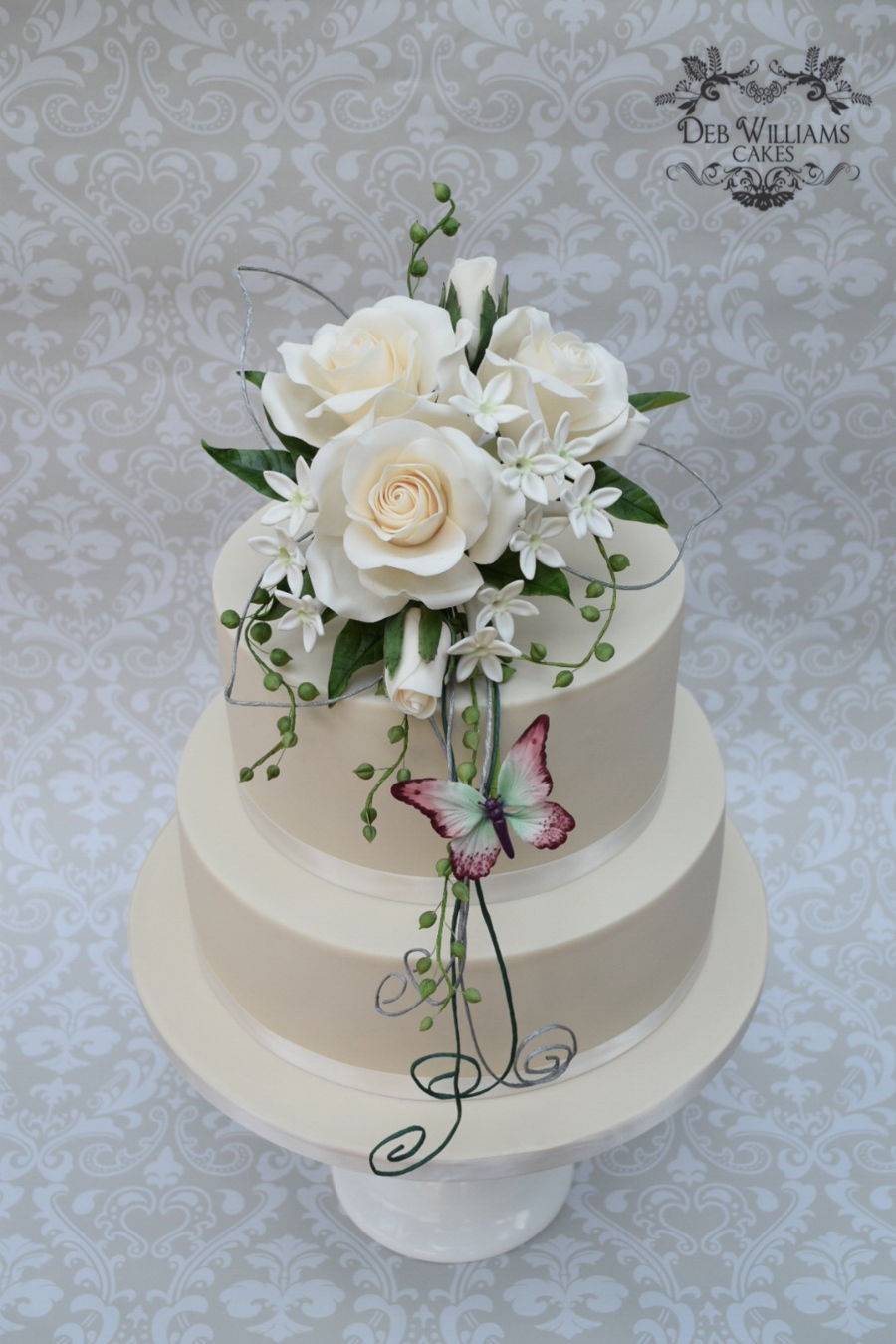 Sugar Flowers For Wedding Cakes  Sugar Flowers Wedding Cake CakeCentral
