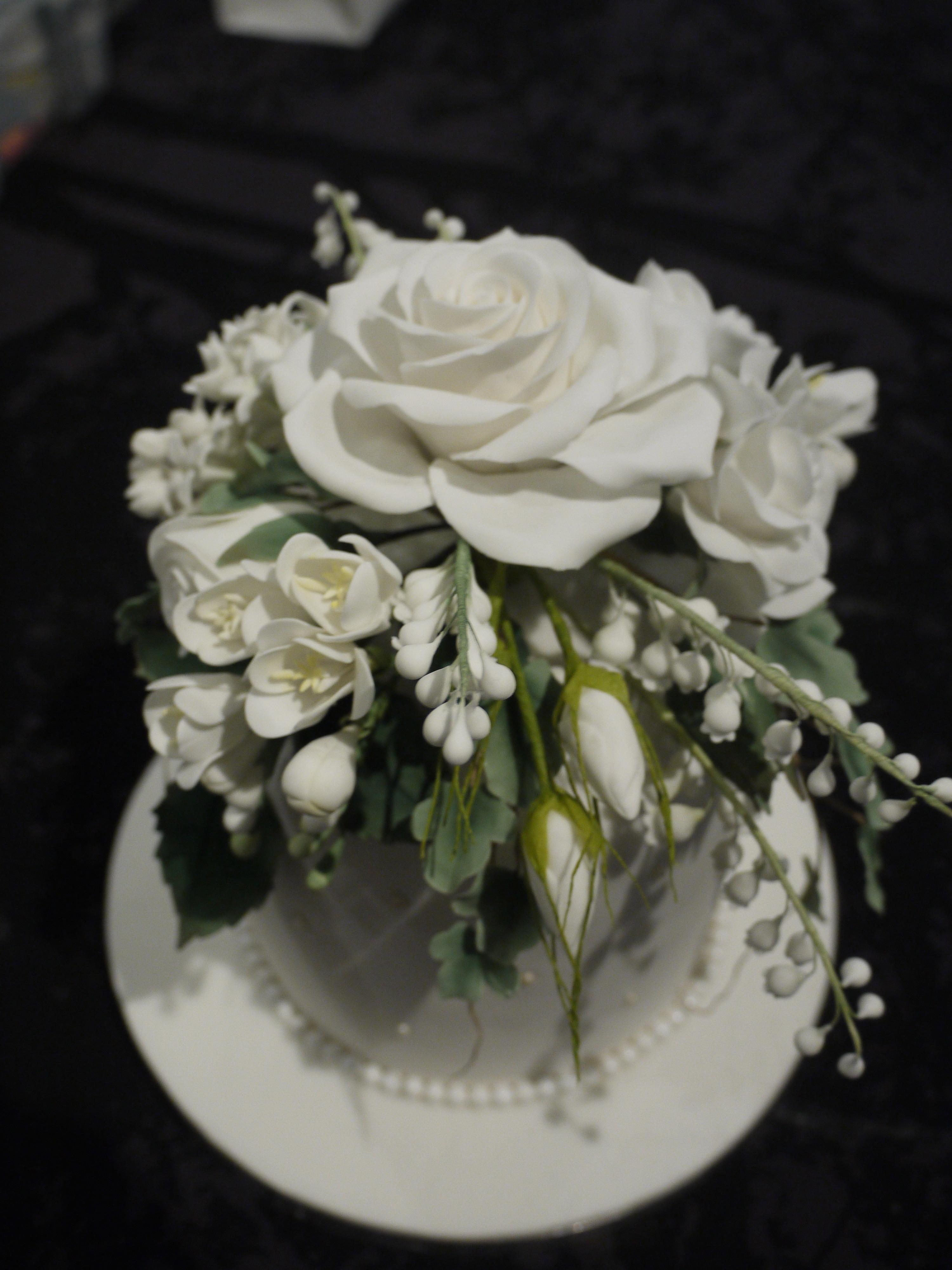 Sugar Flowers Wedding Cakes  Sugar Flowers Wedding Cake CakeCentral
