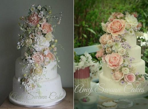 Sugar Flowers Wedding Cakes  Tumbling Trailing Sugar Flowers – Cake Geek Magazine