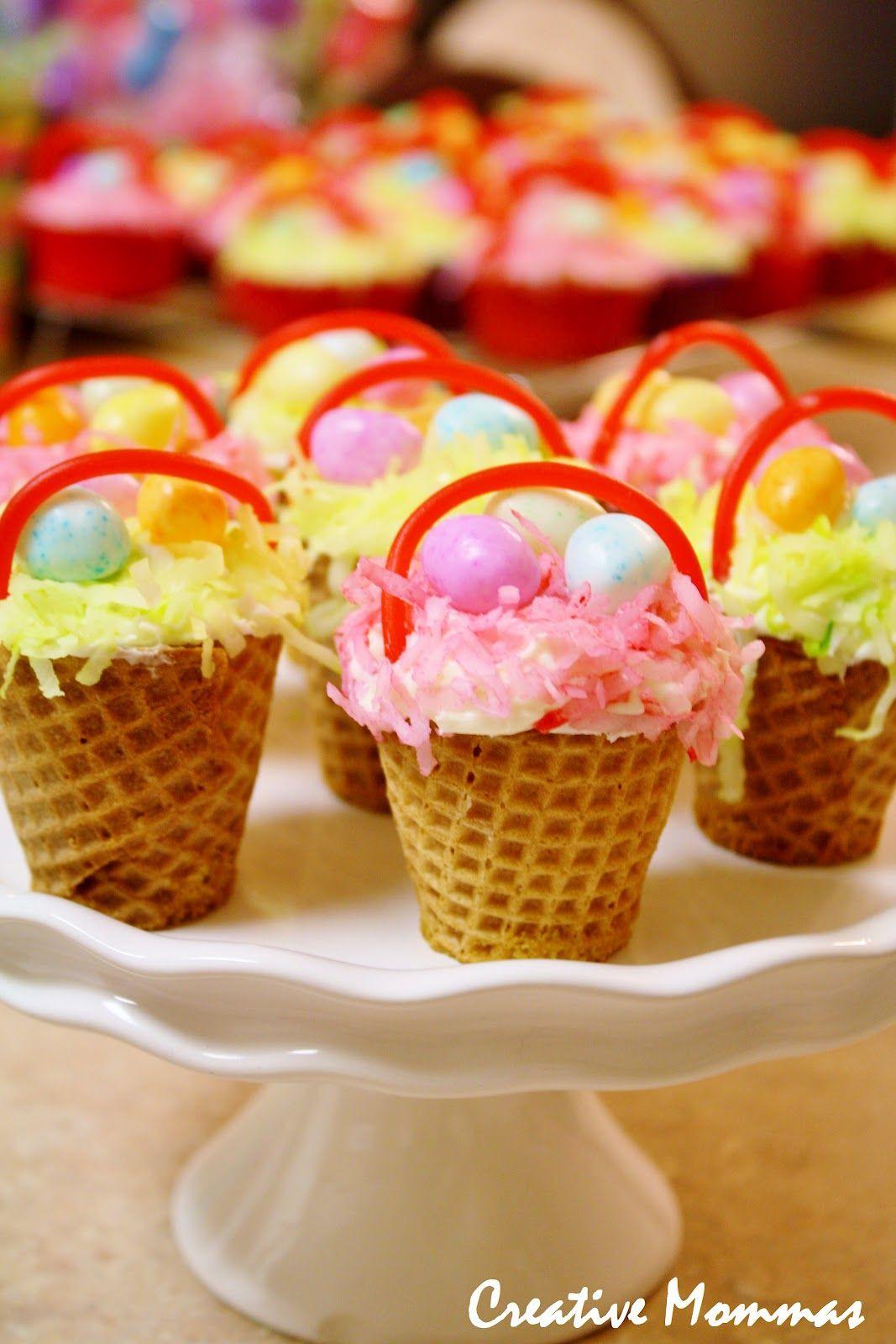 Sugar Free Easter Desserts  Creative Mommas Easter Basket Cupcakes cupcake easter
