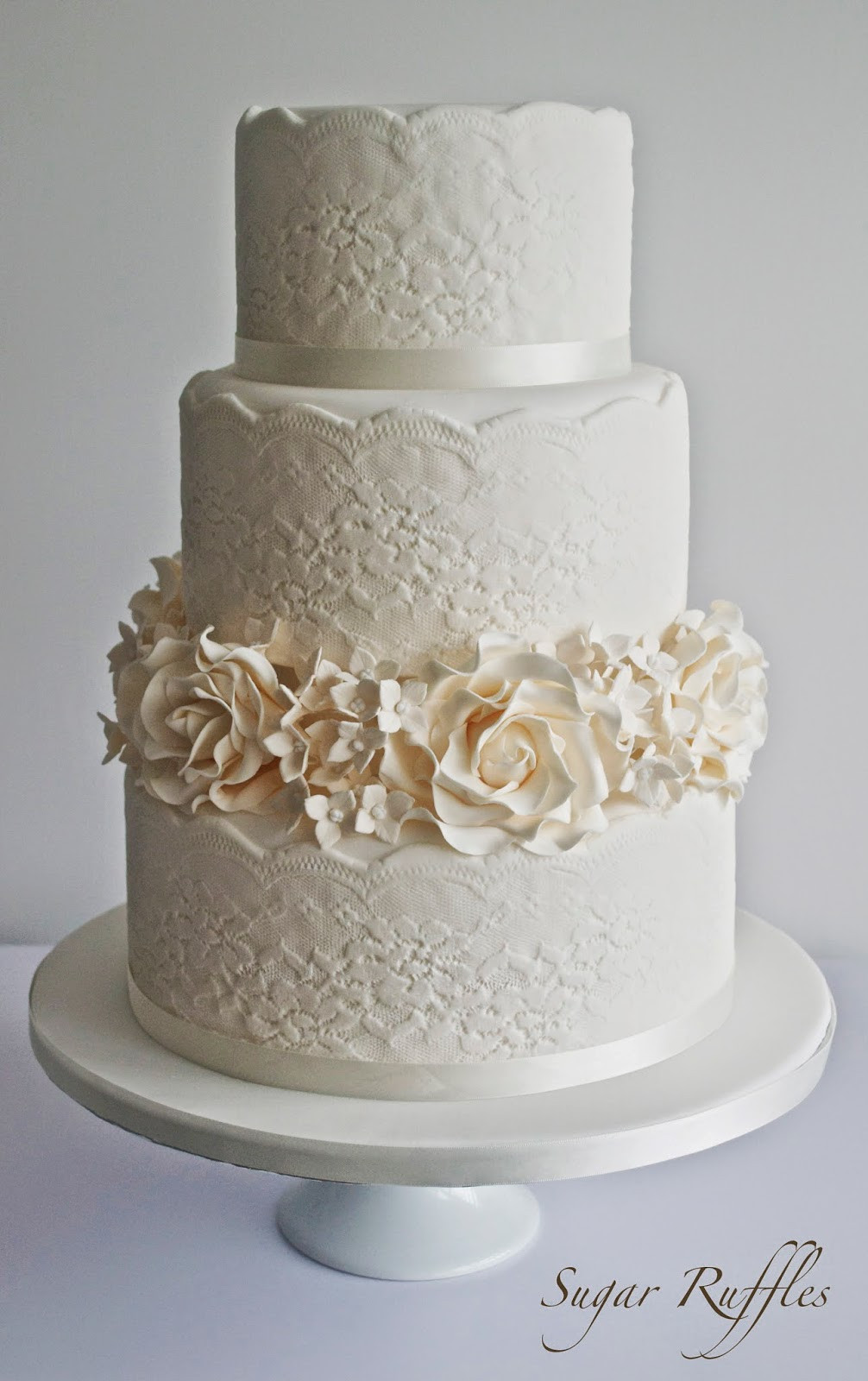 Sugar Free Wedding Cakes  Sugar lace for wedding cakes idea in 2017