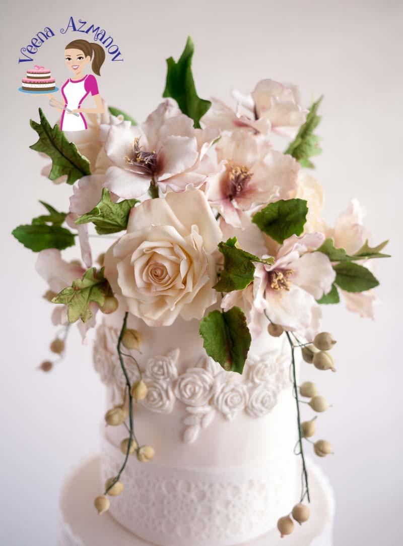 Sugarcraft Flowers Wedding Cakes  Homemade Gum Paste Recipe for Sugar Flowers Veena Azmanov