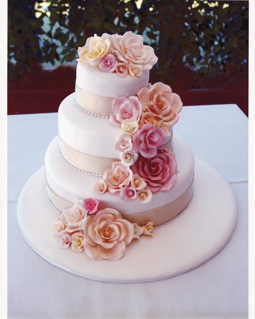 Sugarcraft Flowers Wedding Cakes  Wedding Cake Enchantress Cake Decoration Sugarcraft Roses