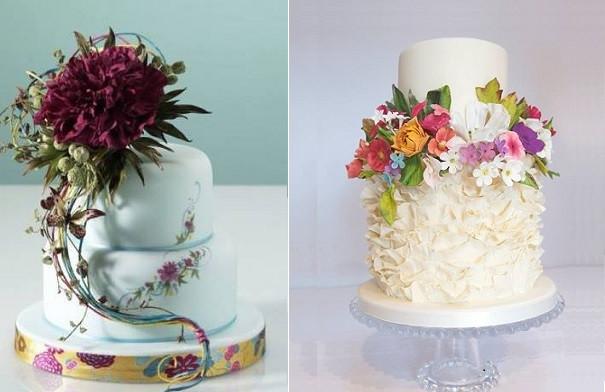 Sugarcraft Flowers Wedding Cakes  Botanical Style Wedding Cakes – Cake Geek Magazine