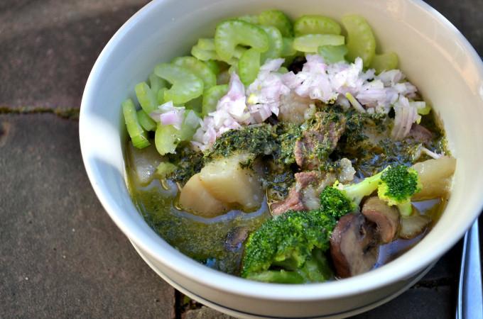 Summer Beef Stew  Summer Beef Stew with Chilled Thyme Pesto Autoimmune