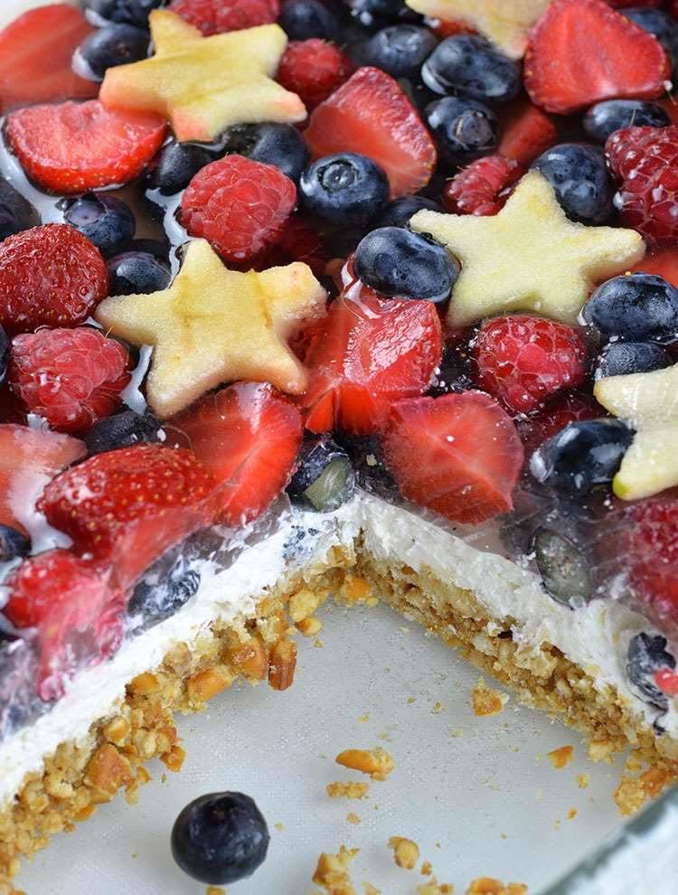 Summer Berry Desserts  No Bake Summer Berry Pretzel Salad OMG Chocolate Desserts