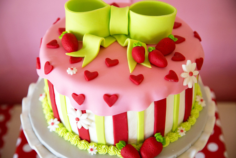 Summer Birthday Cake 20 Best Ideas Strawberry Shortcake Party Lillian Hope Designs