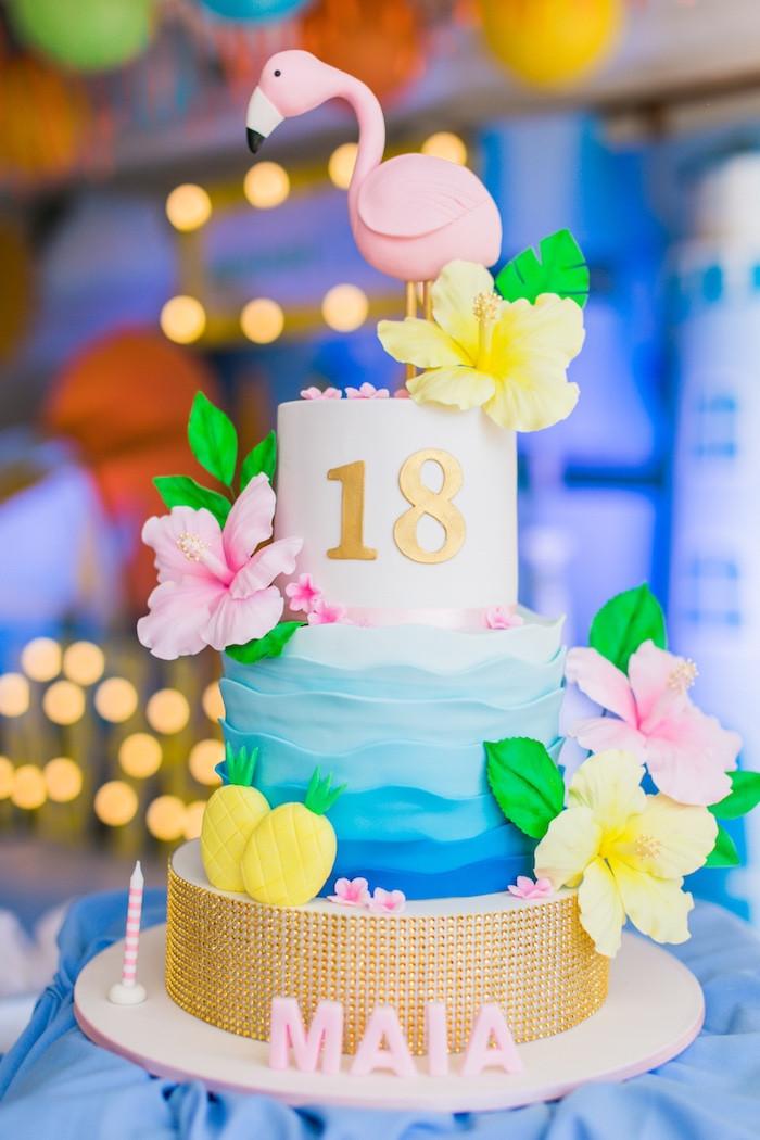 Summer Birthday Cake Ideas  Kara s Party Ideas Surf & Summer Birthday Pool Party