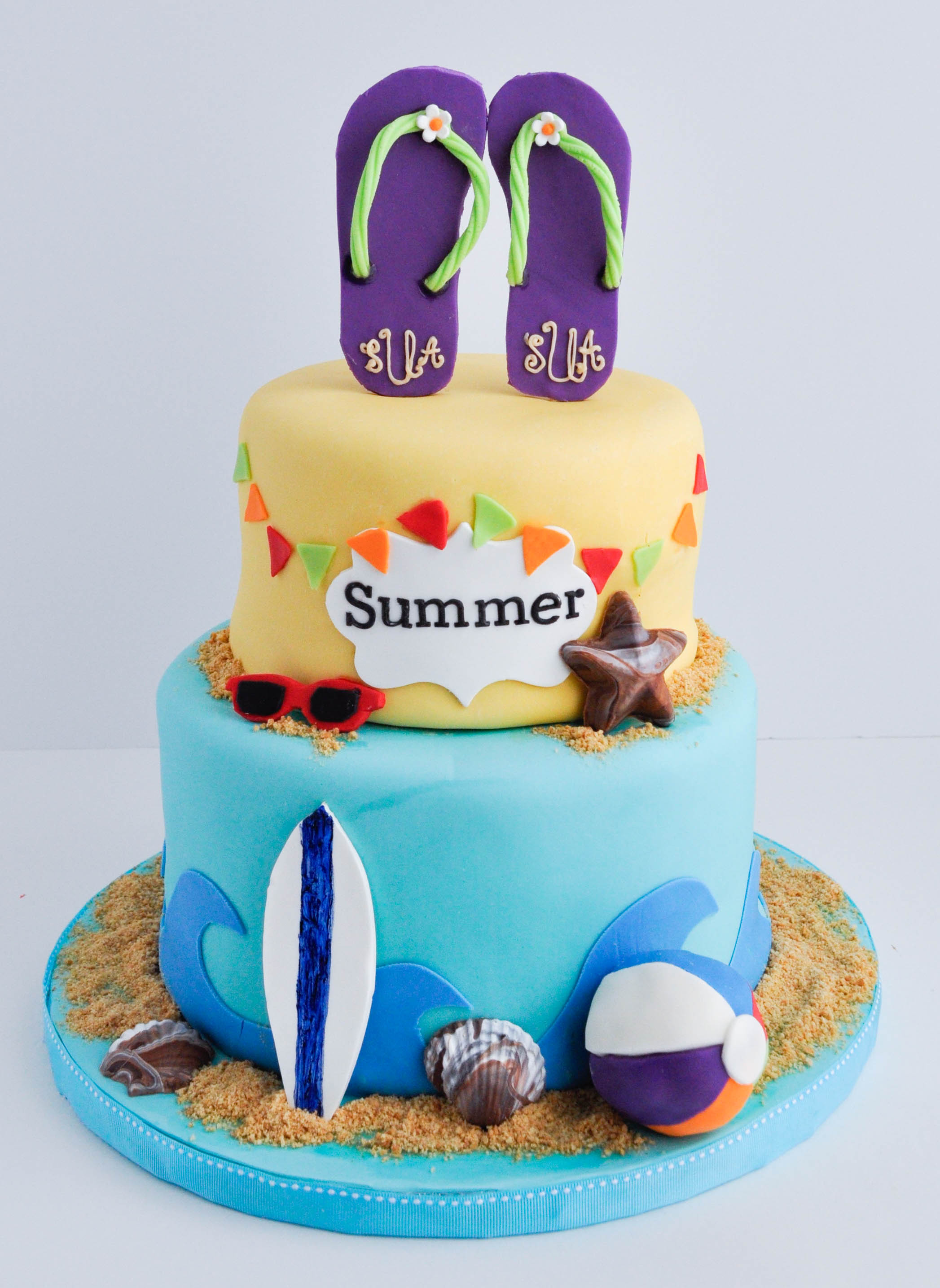 Summer Birthday Cake Ideas  Summer Swiming Cake