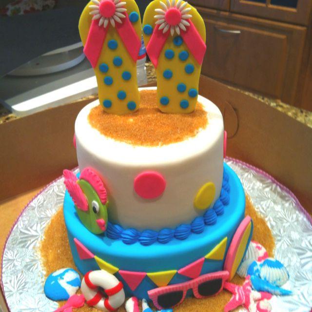 Summer Birthday Cake Ideas  Summer bday cake Birthday party ideas