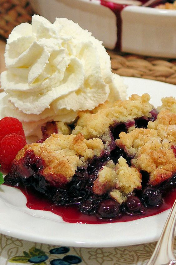 Summer Blueberry Desserts  Blueberry cobbler Crumble topping and Cobbler on Pinterest