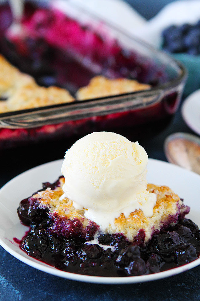 Summer Blueberry Desserts  Blueberry Cobbler Two Peas & Their Pod
