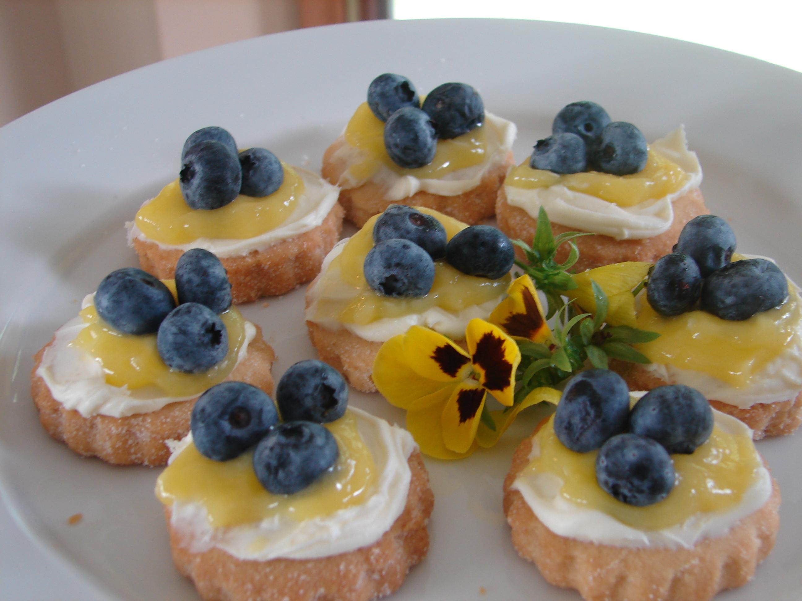 Summer Blueberry Desserts  Summer Entertaining Lemon Shortbread Cookies with