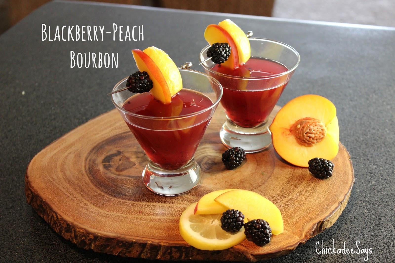 Summer Bourbon Drinks  Summer Drink Series Blackberry Peach Bourbon Spritzer