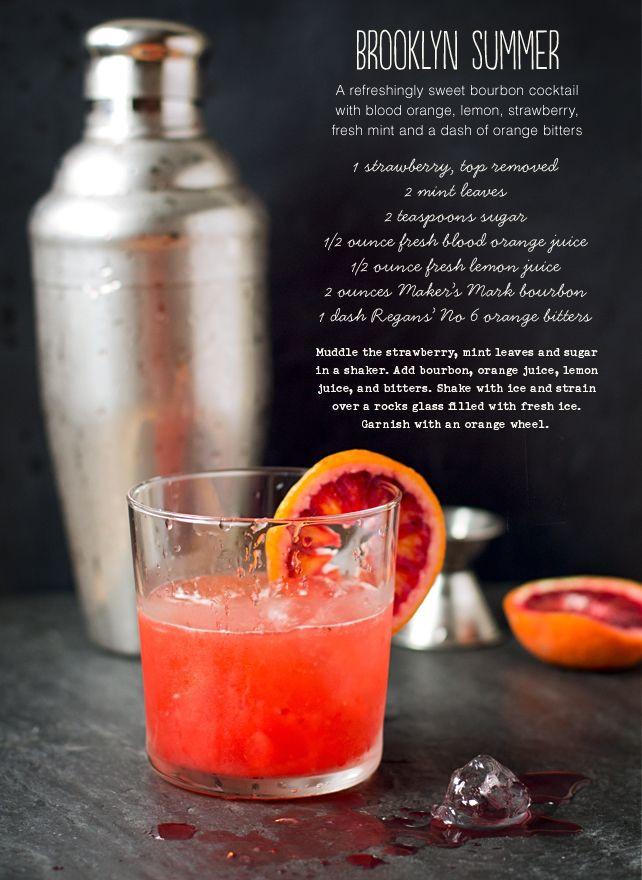 Summer Bourbon Drinks  50 best images about Summer Cocktails on Pinterest