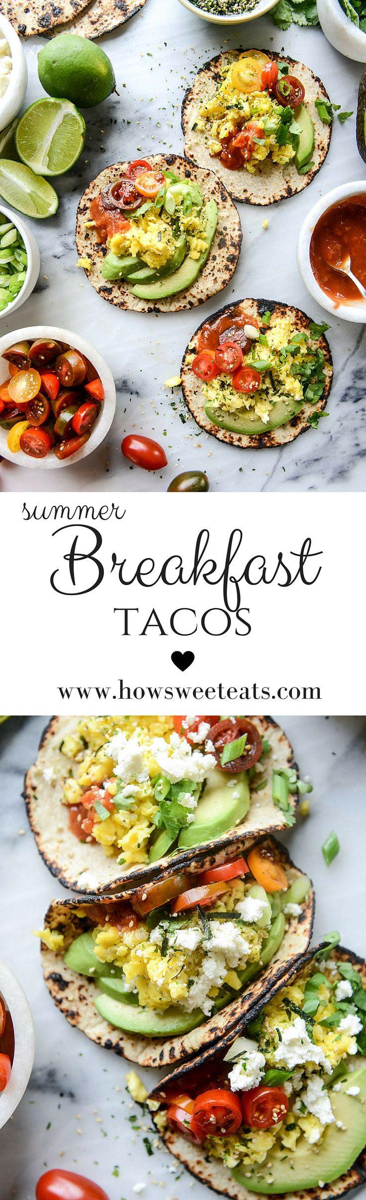 Summer Breakfast Recipe  Best 25 Breakfast tacos ideas on Pinterest