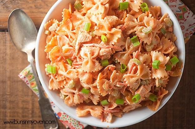 Summer Chicken Pasta Salad  Buffalo Chicken Pasta Salad — Buns In My Oven