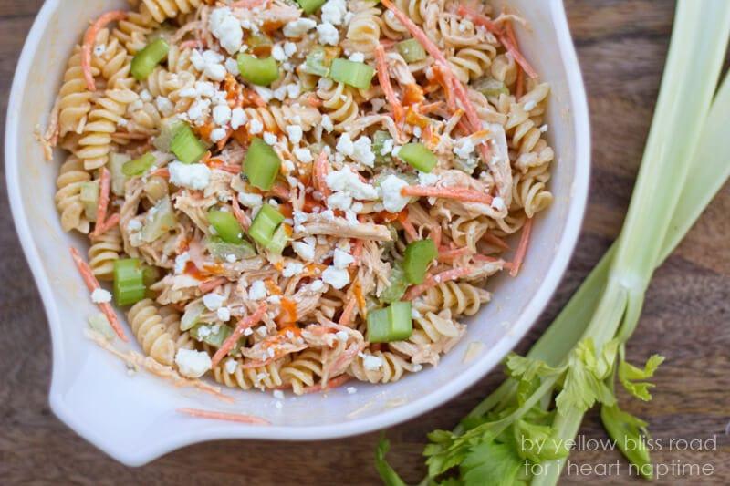 Summer Chicken Pasta Salad  Buffalo Chicken Pasta Salad Hello Summer I Heart Nap Time