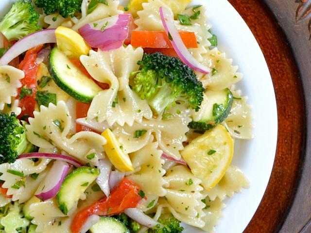 Summer Chicken Pasta Salad  Jenn s Food Blog Summer Veggie & Chicken Pasta Salad
