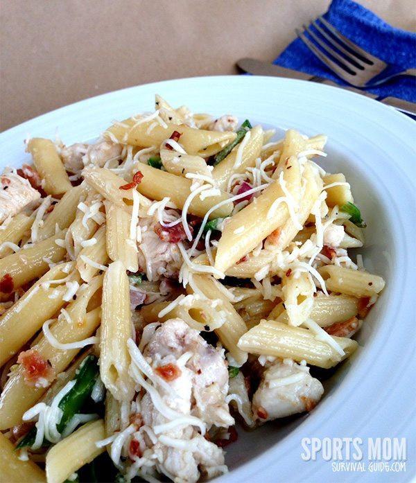Summer Chicken Pasta Salad  Summer Chicken Pasta Salad from Sports Mom Survival Guide