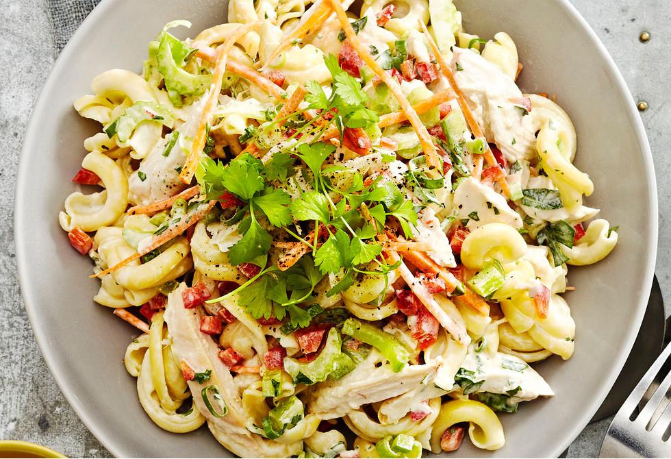 Summer Chicken Pasta Salad  Creamy chicken pasta salad Recipe