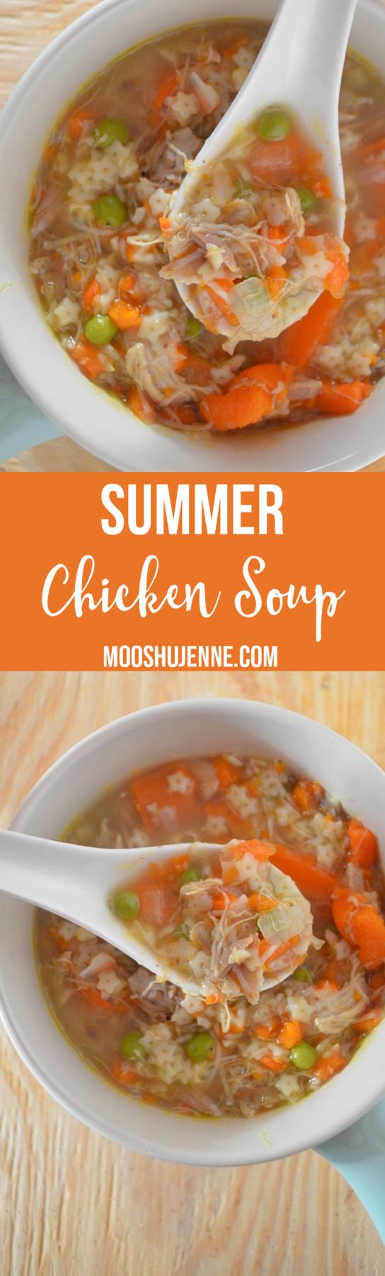 Summer Chicken Soup  Summer Chicken Soup Mooshu Jenne