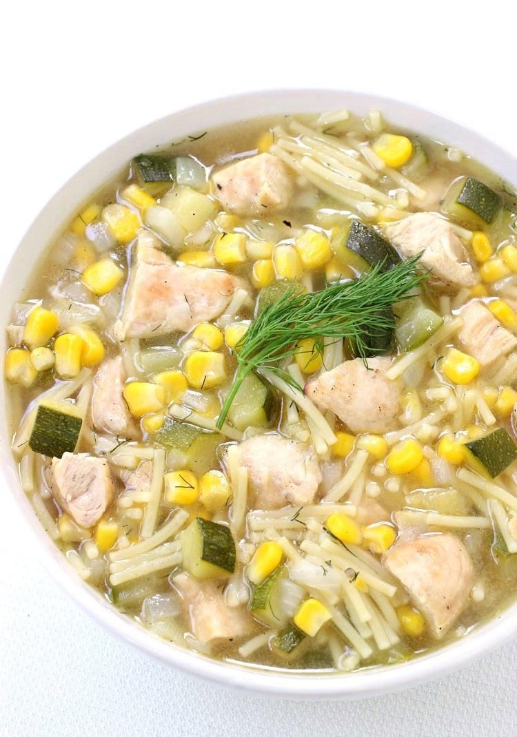 Summer Chicken Soup  Summer Grilled Chicken Soup Mantitlement