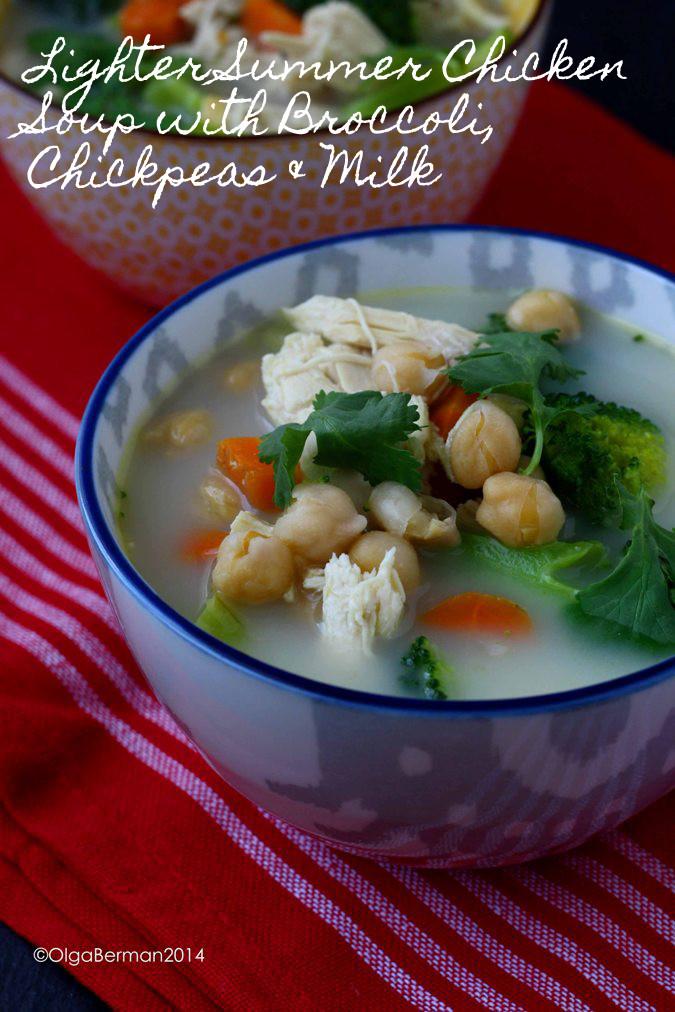 Summer Chicken Soup  Mango & Tomato Lighter Summer Chicken Soup with Broccoli
