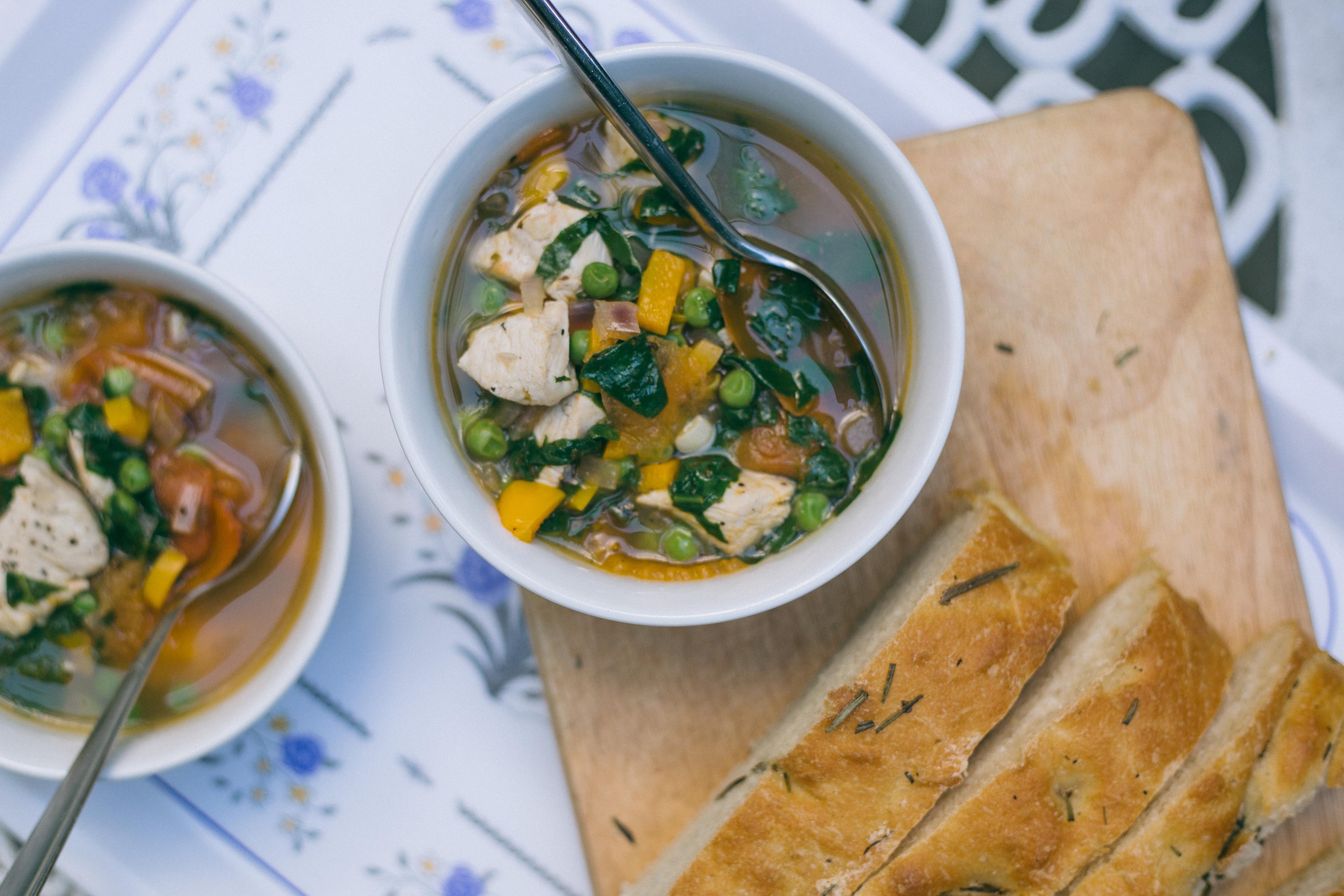 Summer Chicken Soup  summer chicken soup