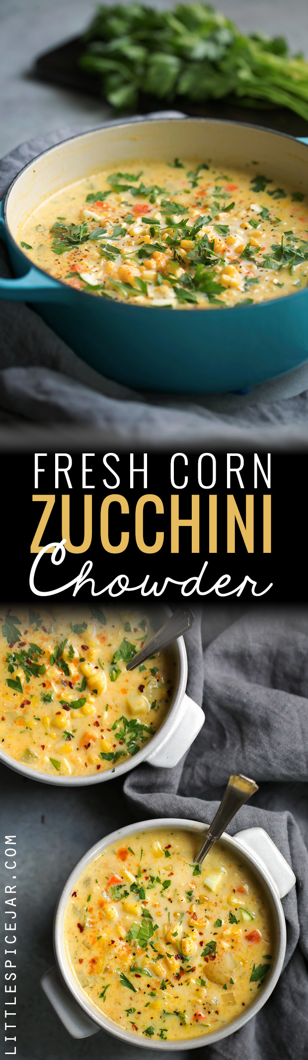 Summer Corn Chowder  Fresh Corn Zucchini Chowder Recipe
