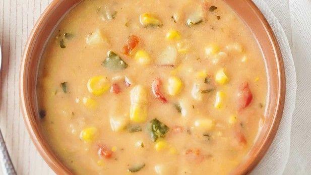 Summer Corn Chowder Panera  Ve arian Summer Corn Chowder Bowl from Panera not the