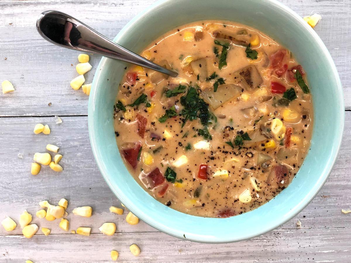 Summer Corn Chowder Panera  Copycat Panera Bread Summer Corn Chowder Recipe