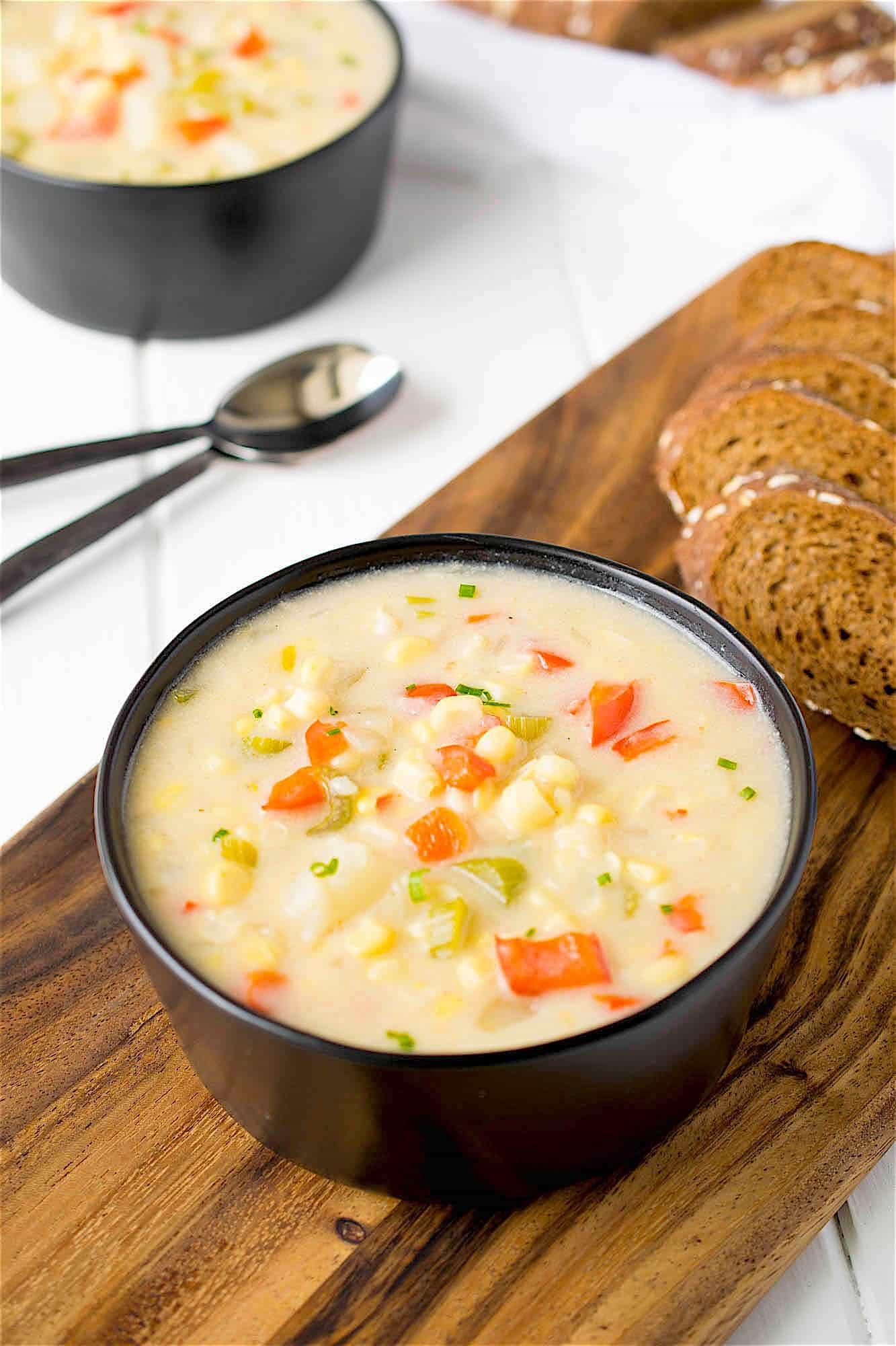 Summer Corn Chowder  Summer corn chowder Culinary Ginger