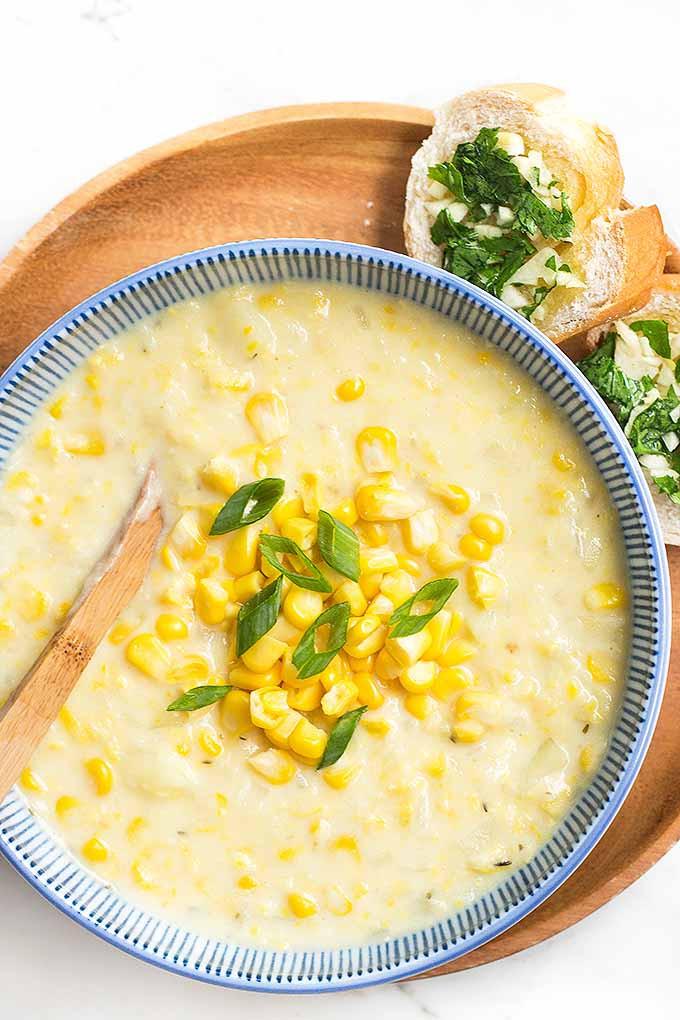 Summer Corn Chowder  Summer Corn Chowder with Herb Garlic Bread Recipe