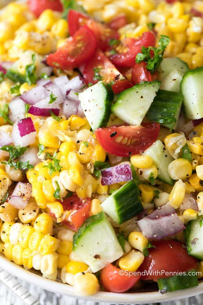 Summer Corn Salad  Fresh Corn Salad Spend With Pennies
