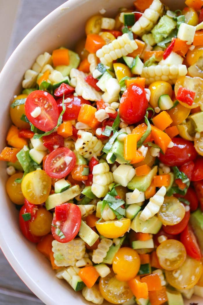 Summer Corn Salad  Summer Corn Avocado Basil Salad