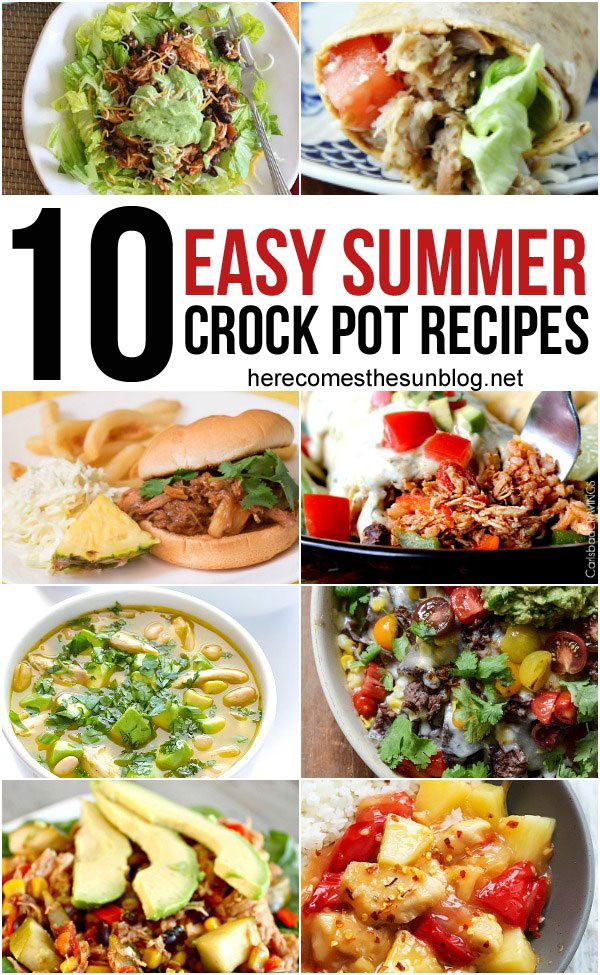 Summer Crock Pot Dinners  10 Summer Crock Pot Recipes
