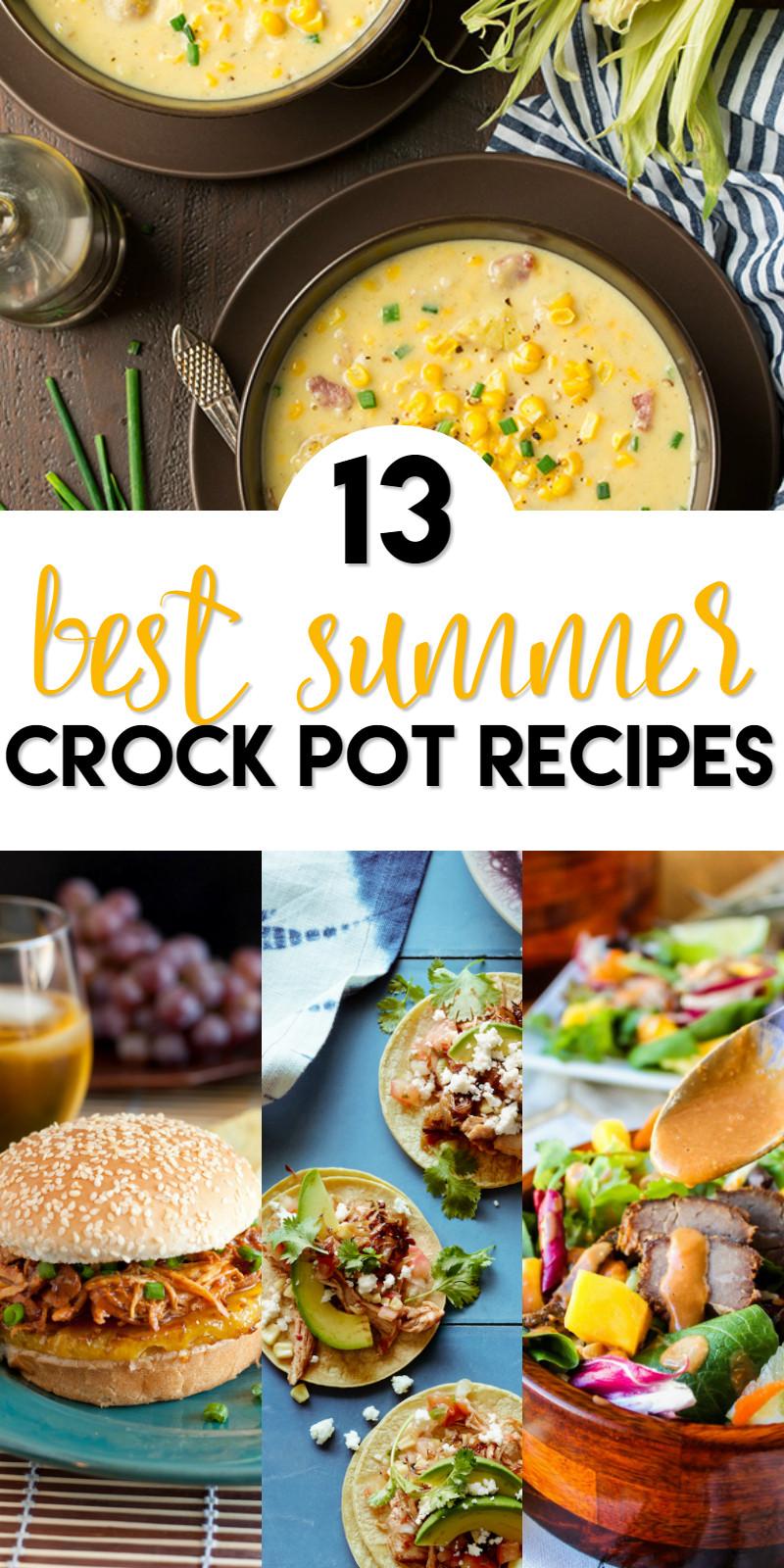 Summer Crock Pot Dinners  13 Best Summer Crock Pot Recipes A Grande Life