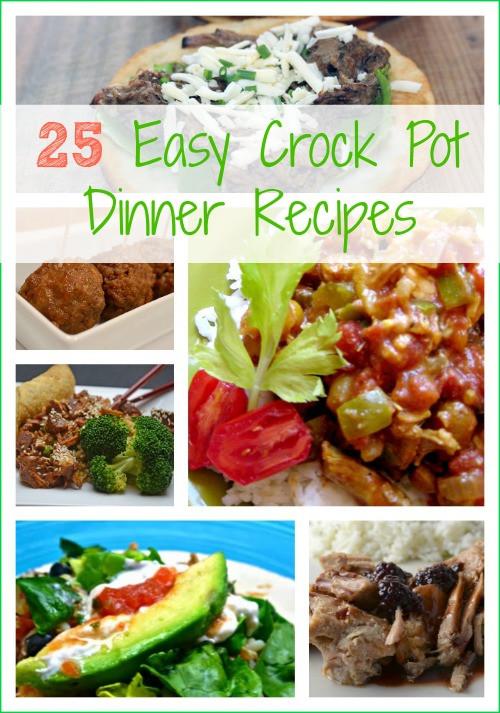 Summer Crock Pot Dinners  25 Easy Crock Pot Dinner Recipes