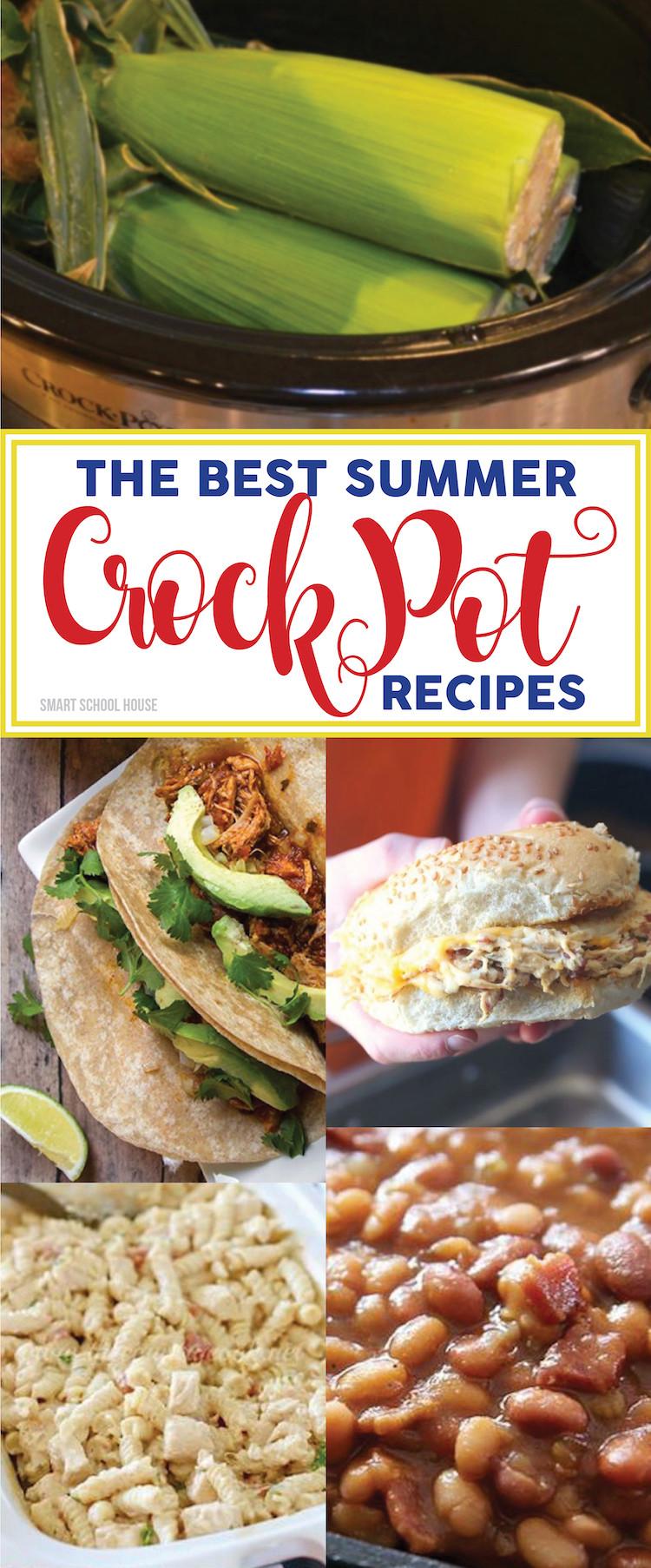 Summer Crock Pot Dinners  Summer Crock Pot Recipes Smart School House