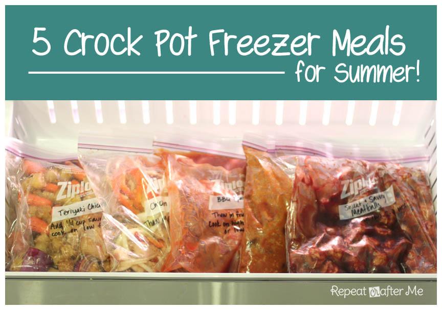 Summer Crock Pot Dinners  Crock Pot Freezer Meals for Summer Repeat Crafter Me