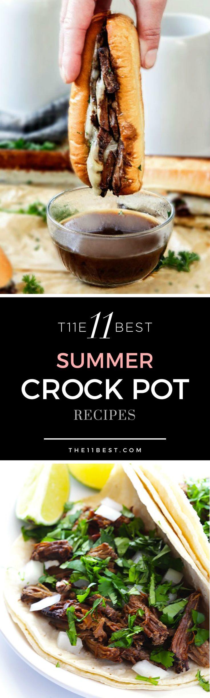 Summer Crock Pot Dinners  100 Summer crock pot recipes on Pinterest