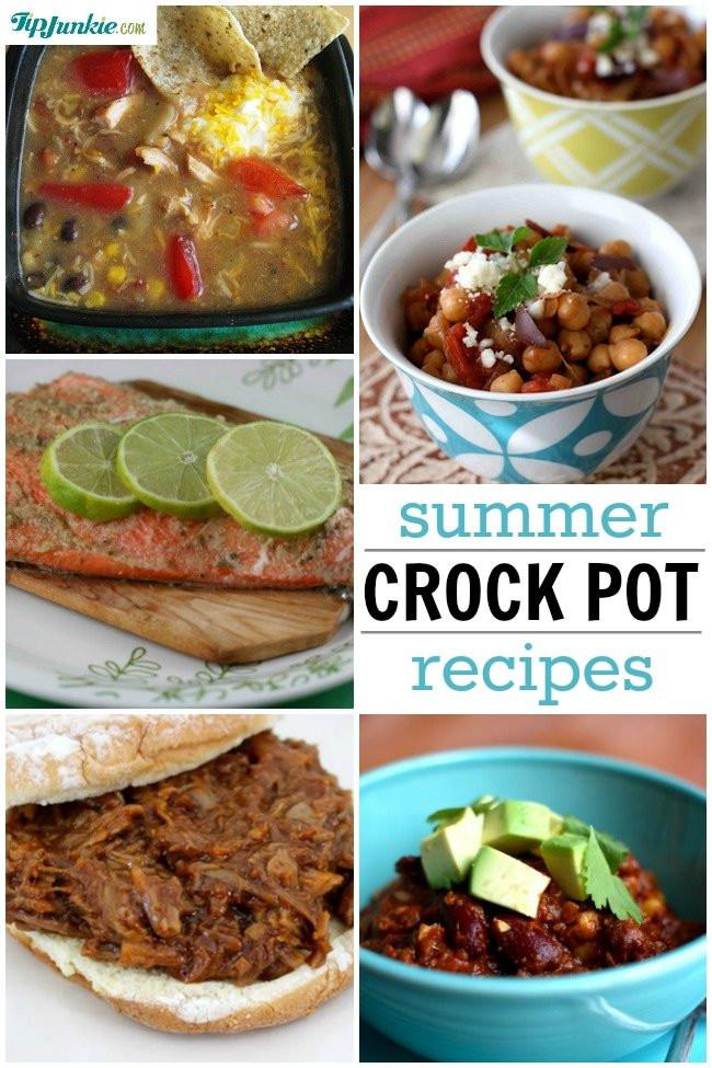 Summer Crock Pot Dinners  6 Summer Crock Pot Recipes ditch the hot oven Tip Junkie