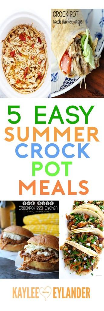 Summer Crock Pot Dinners  5 Summer Crockpot Meals