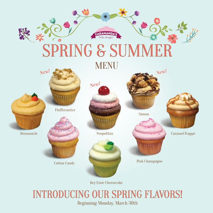 Summer Cupcakes Flavors  32 best Caramanda s Cupcakes images on Pinterest