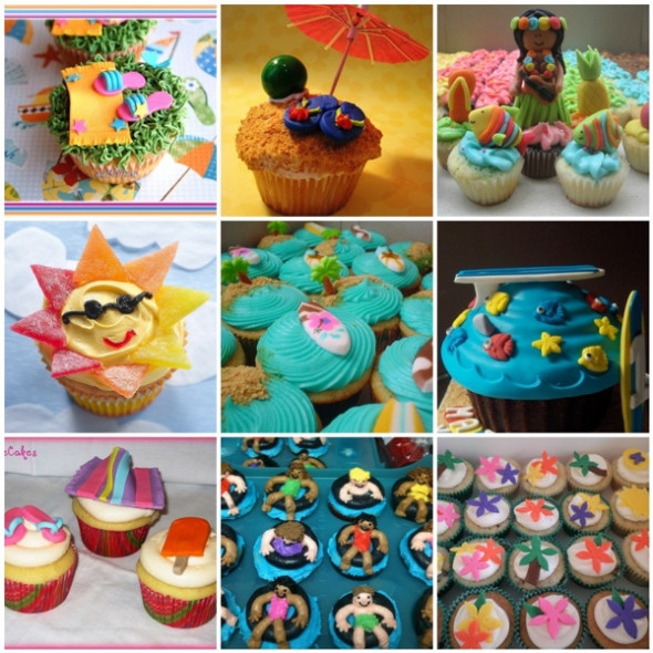 Summer Cupcakes Ideas  Summer Cupcake Decorating Ideas